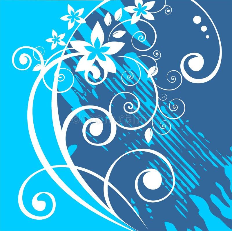 Blue grunge background royalty free illustration