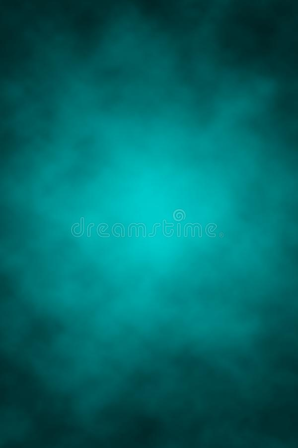 Blue grunge background, clouds, Halloween, place for lettering, gradient, spots, dark, night sky stock illustration