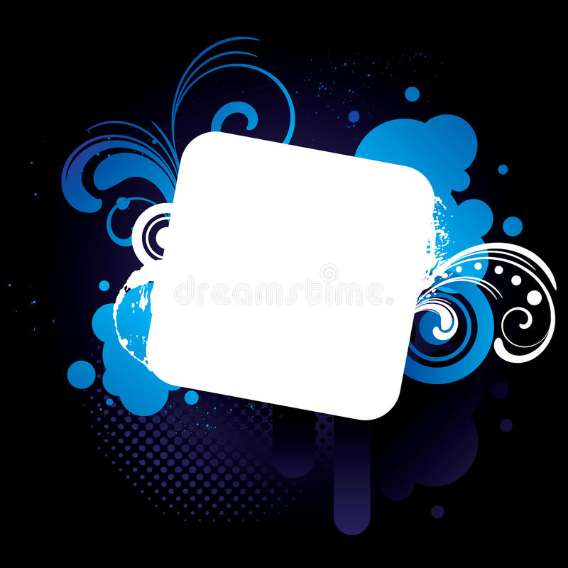 Blue_grunge_frame vector illustratie