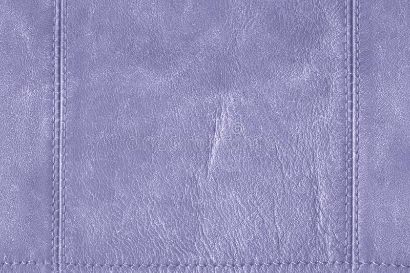 Blue grunge leather with seams royalty free stock photo