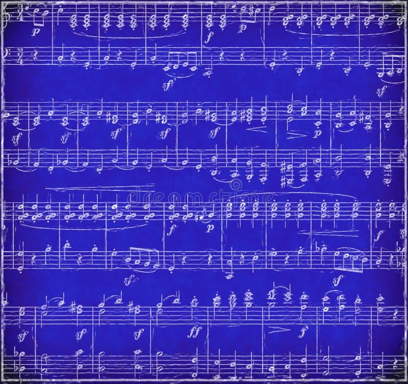 Blue Grunge Music Background stock image