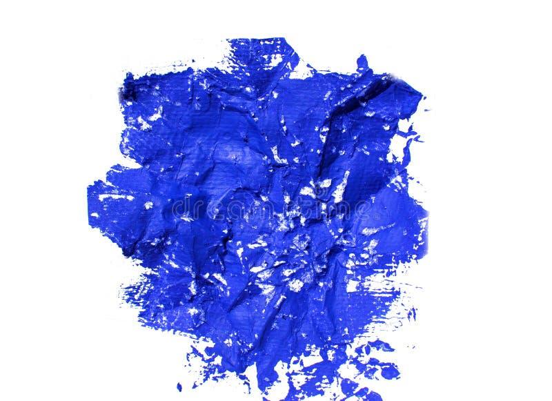 Blue grunge painted spot stock photo