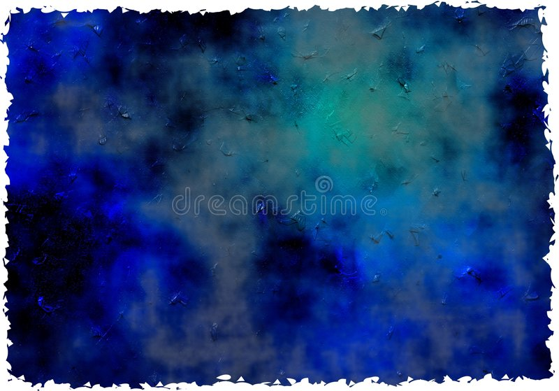 Blue grunge paper. Dark blue ancient impasto grunge paint effect background paper texture with ripped edges vector illustration