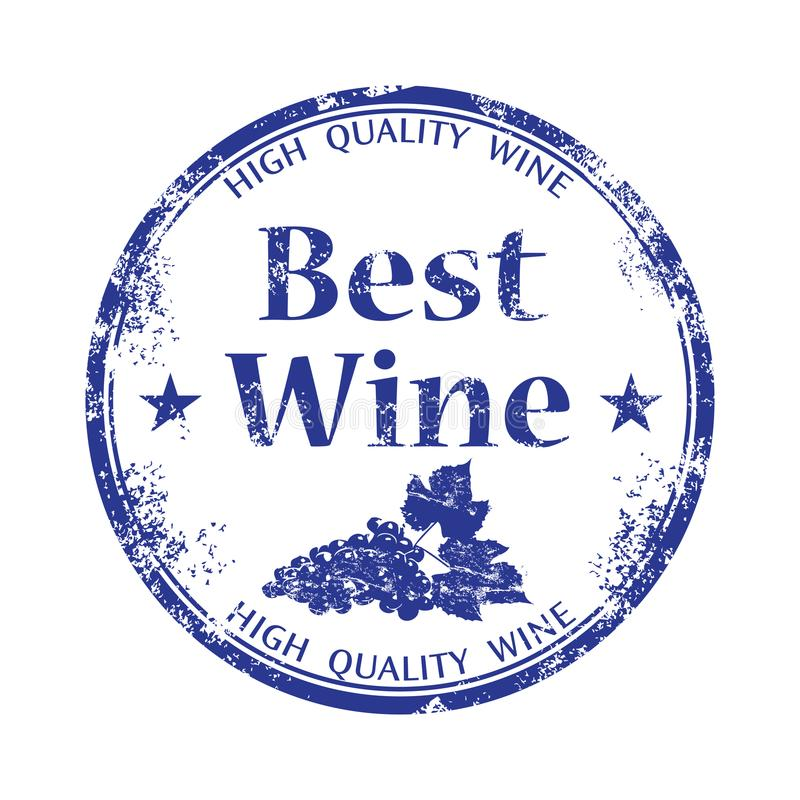 Best wine rubber stamp stock images