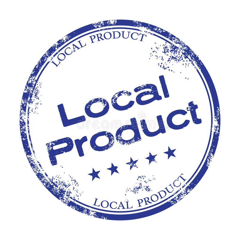 Local product rubber stamp royalty free stock photography