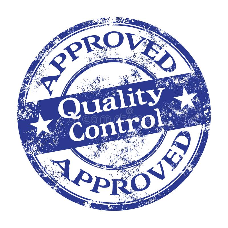 Quality control rubber stamp stock image