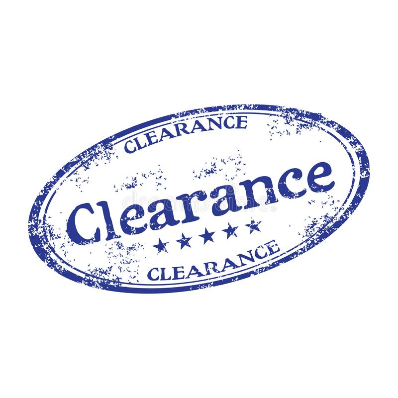 Clearance rubber stamp stock images