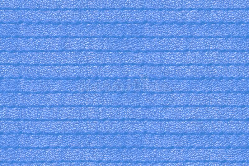 Blue grunge seamless stitched leather background royalty free stock photography