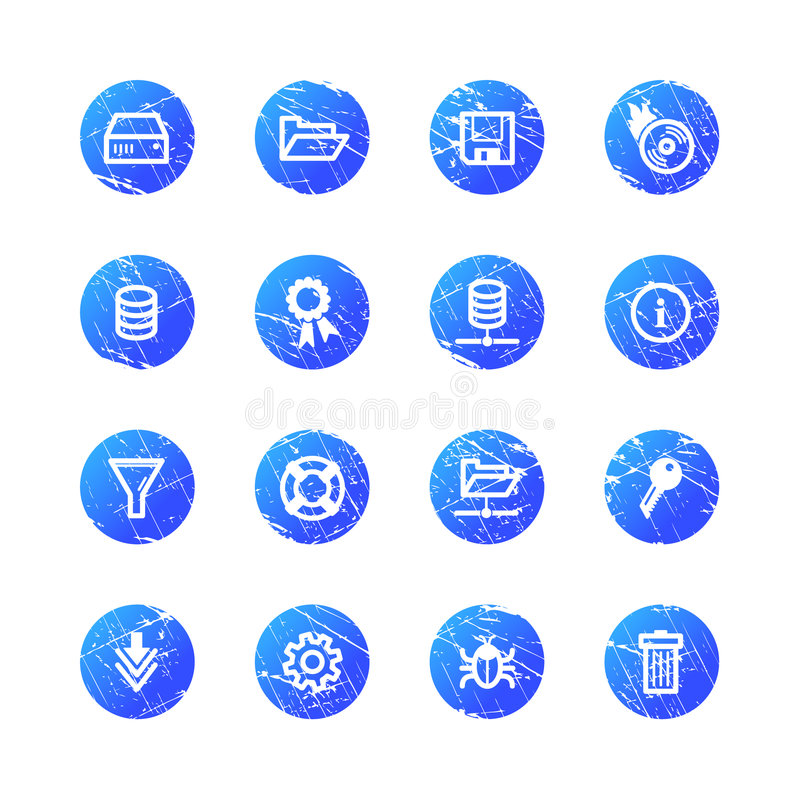 Download Blue grunge server icons stock vector. Image of filter - 4494465