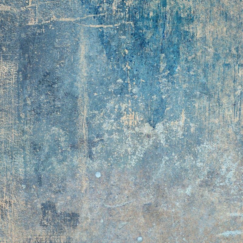 Blue Grunge Texture Square stock illustration