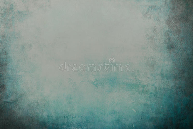 Blue grungy background. Or texture with dark vignette borders stock photography
