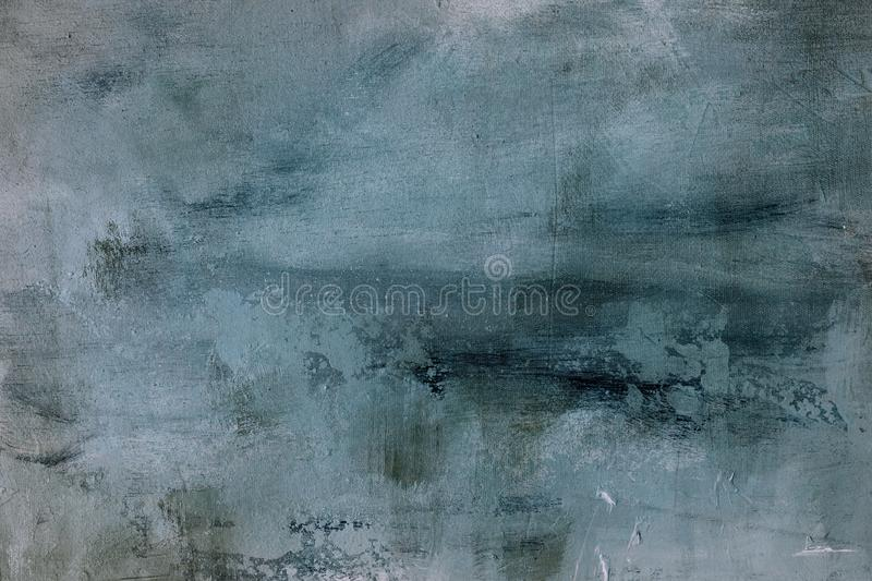 Pale blue grungy painting background or texture royalty free stock photo