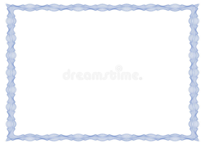 Guilloche frame for certificate, diploma, banknote vector illustration