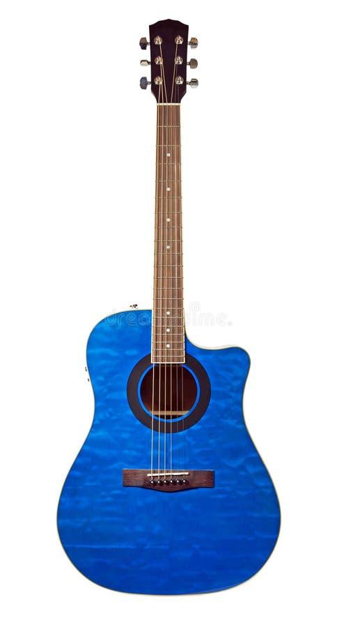 Blue guitar royalty free stock photos