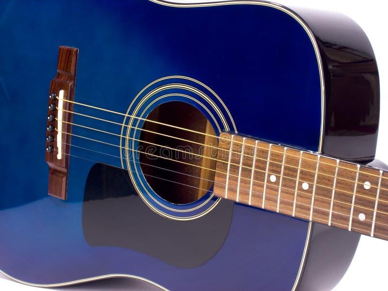 Blue guitar3 stock photos