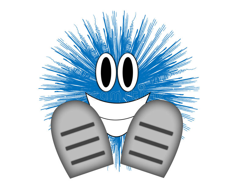 Blue guy stock illustration