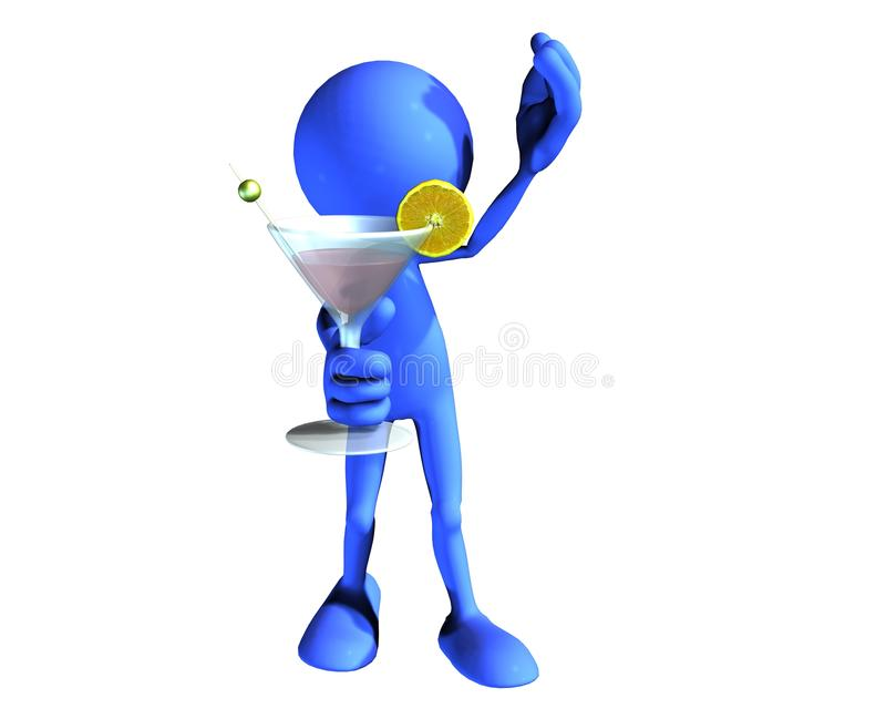 Download Blue Guy Cheers stock illustration. Image of happy, character - 11549659