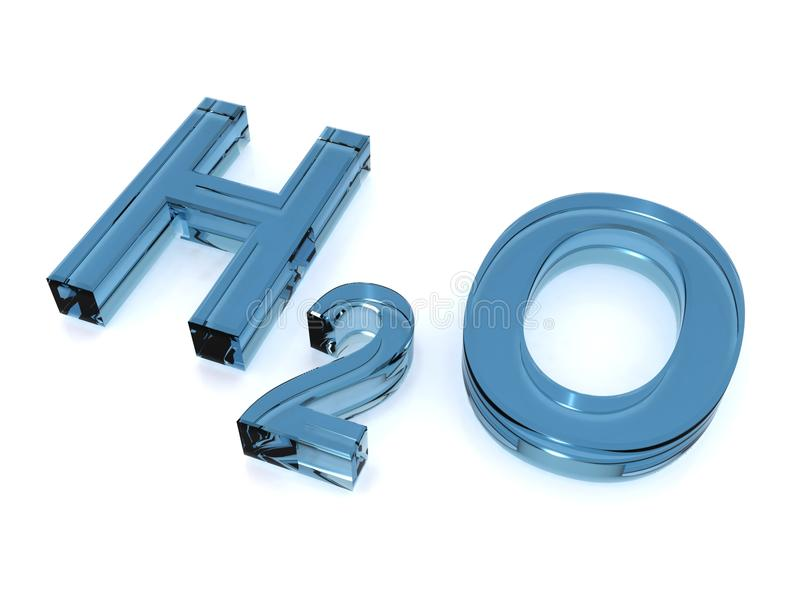 Blue H2O Sign Royalty Free Stock Images