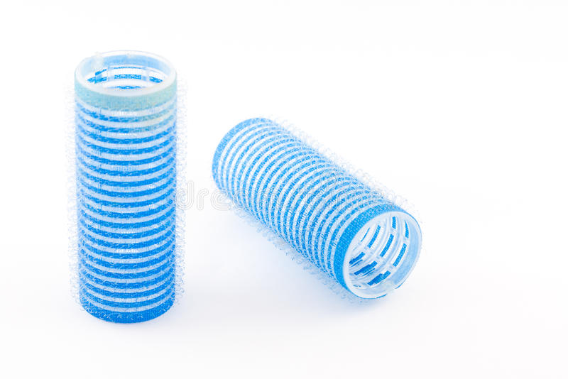 Download Blue hair roller stock image. Image of cylinder, curling - 24363469