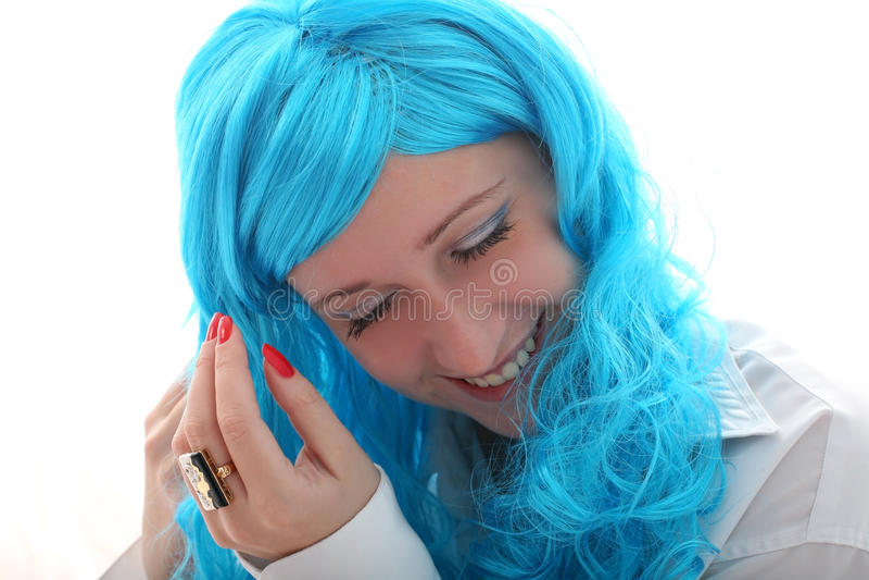 Blue Hairs Stock Photo