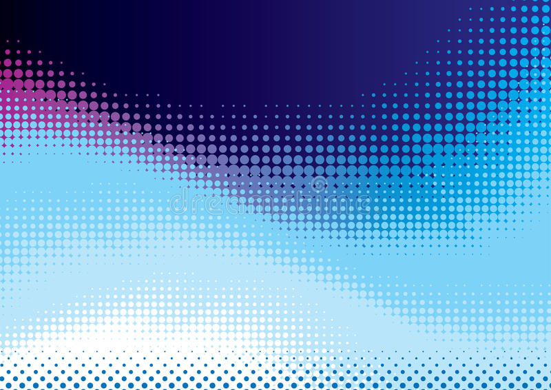 Download Blue halftone background stock vector. Image of background - 26956242