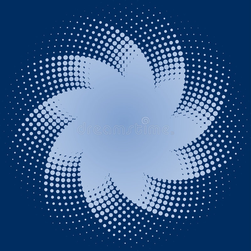 Blue Halftone Dots Star royalty free illustration