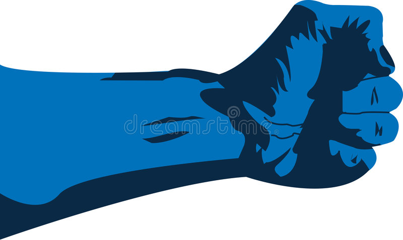 Blue Hand Grapsing vector illustration