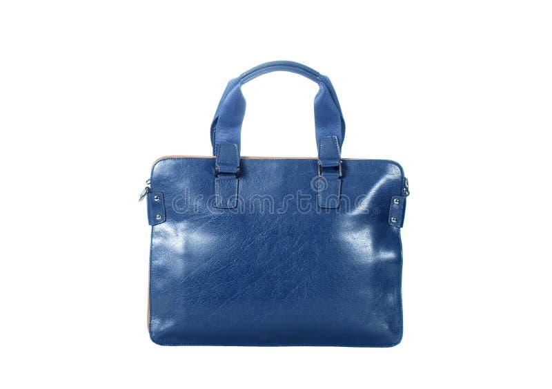 Blue handbag royalty free stock image