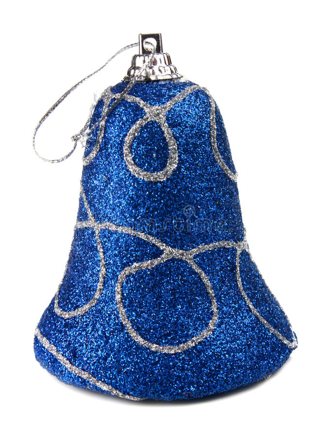 Blue Handbell Decoration For A New-year Tree Stock Photo