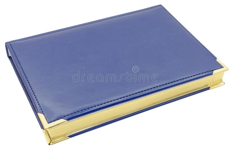 Blue hardcover book isolated on white. Background royalty free stock photos