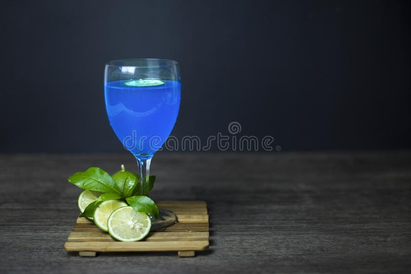 Blue Hawaii Lemon ready to drink royalty free stock images