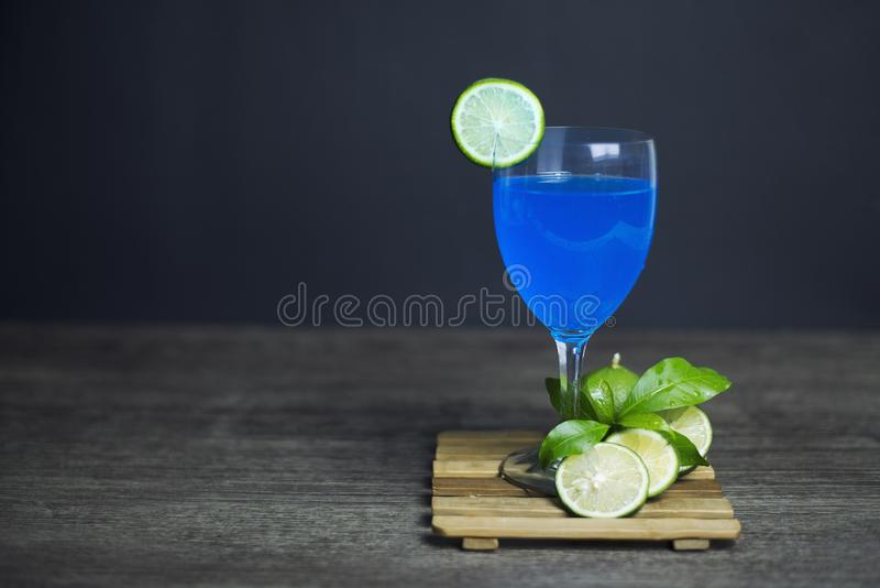 Blue Hawaii Lemon ready to drink royalty free stock image