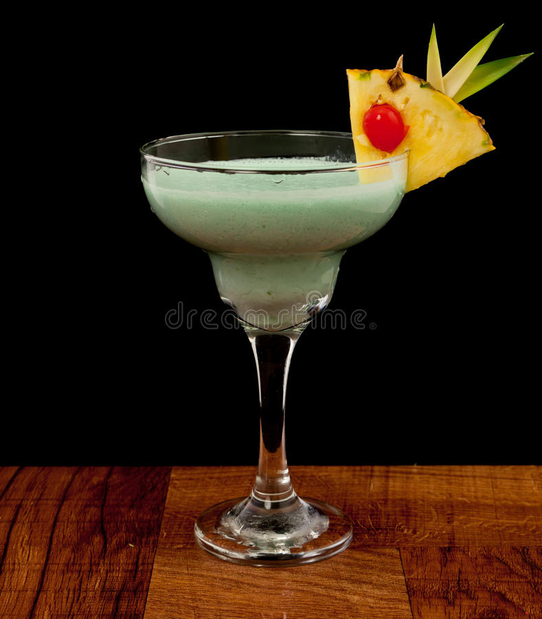 Blue hawaiian cocktail royalty free stock photography