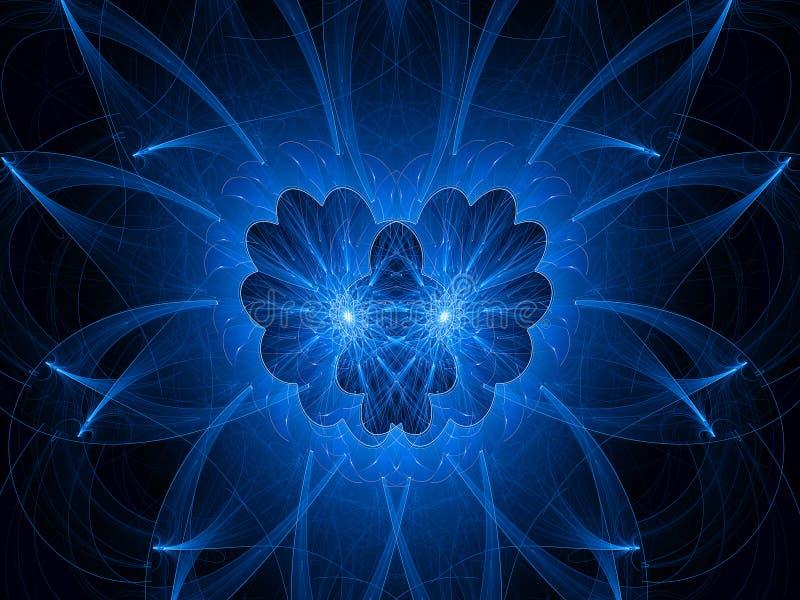 Blue healing angel. Computer generated fractal background stock illustration