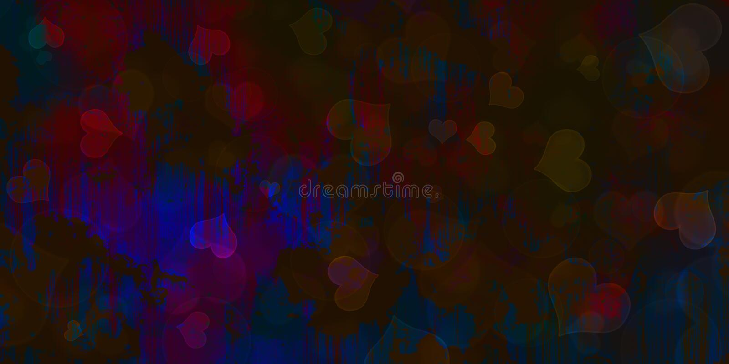 Blue Heart Background, Heat Bokeh Background, vector illustration
