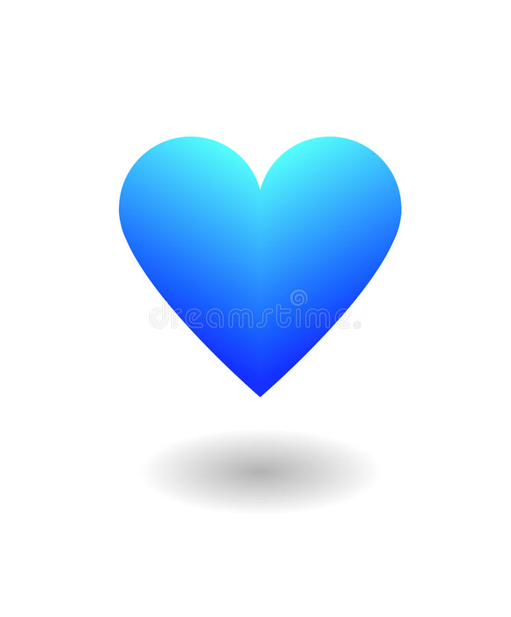 Blue Heart love royalty free illustration