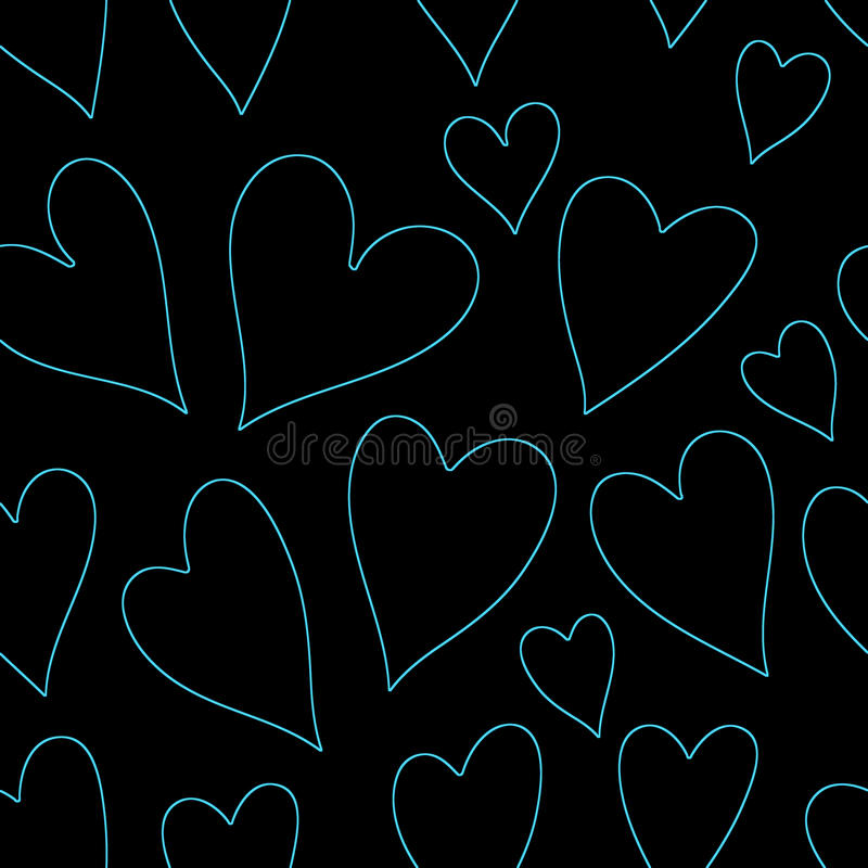 Blue heart seamless pattern vector illustration