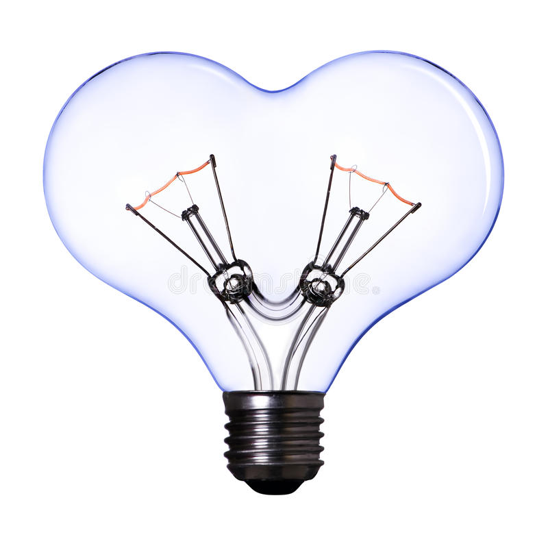 Free Blue Heart Shape Lamp Bulb Royalty Free Stock Photos - 15925628