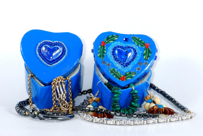 Blue hearts royalty free stock photo