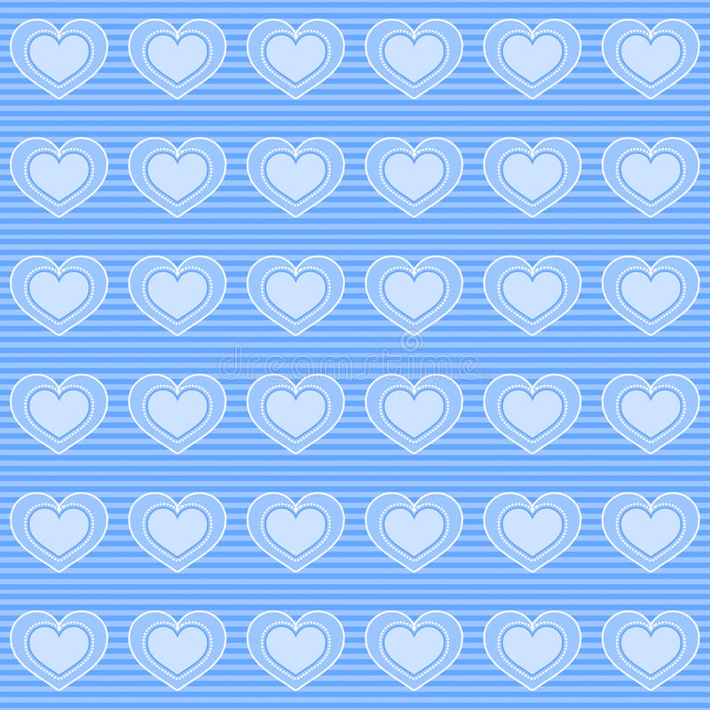 Download Blue hearts wallpaper stock illustration. Image of pattern - 29386737