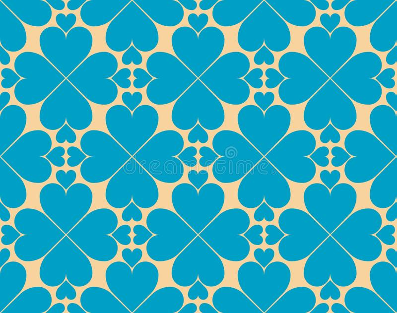 Blue Hearts Wallpaper Design Background Stock Illustration
