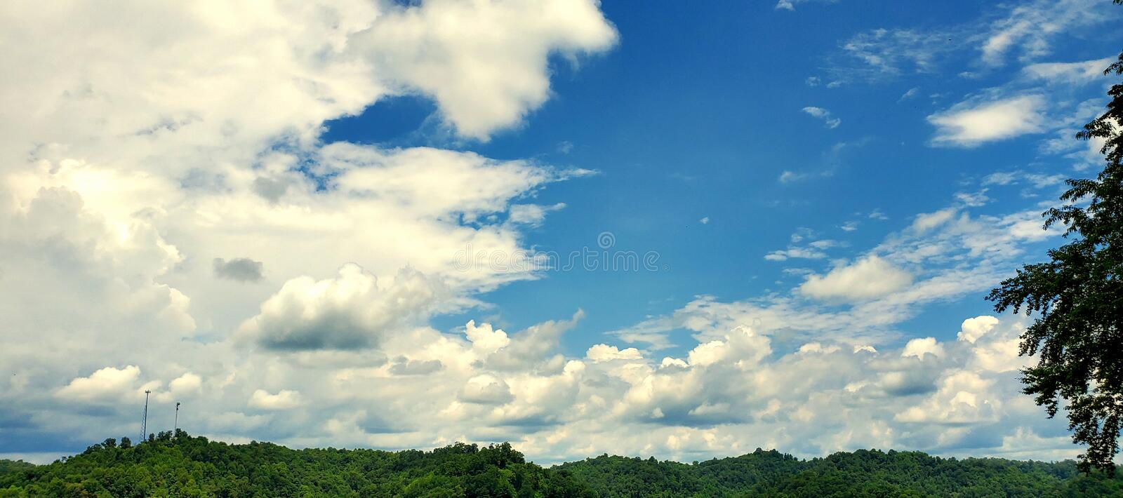 The Blue Heavens Above royalty free stock photo