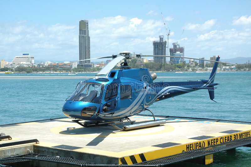 Download Blue Helicopter stock photo. Image of blades, helipad, chopper - 280438