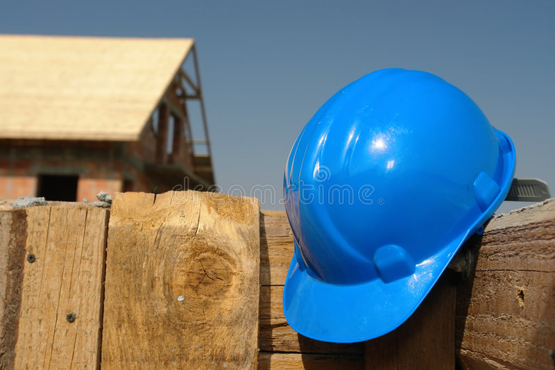 Download Blue helmet stock image. Image of site, accessories, construction - 8240051