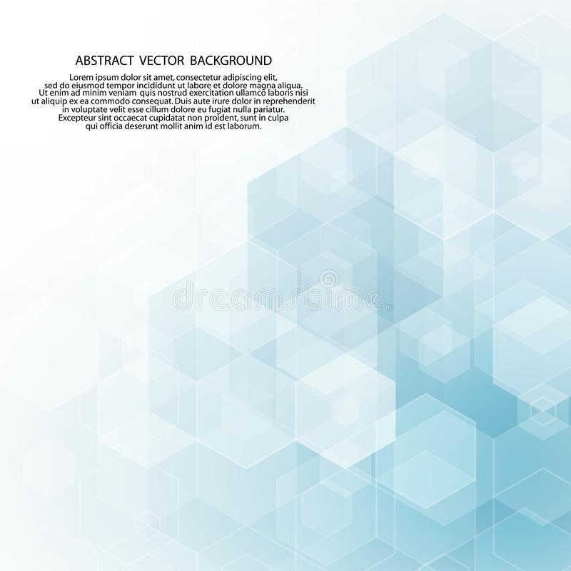 Blue hexagon background. polygonal style. abstract vector background. Blue hexagon background. polygonal style, polyhedrons, science, medicine, fashion, texture vector illustration