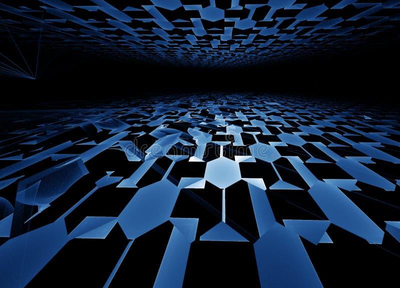 Download Blue hi-tech horizon stock illustration. Image of black - 8380348