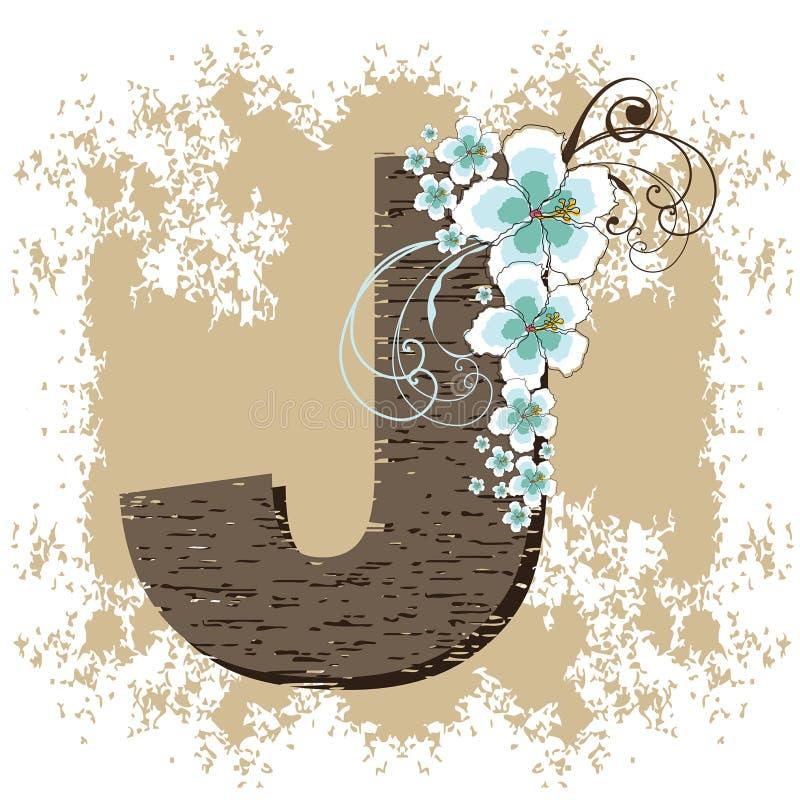 Download Blue Hibiscus Vintage Alphabet G Stock Vector - Image: 3897004