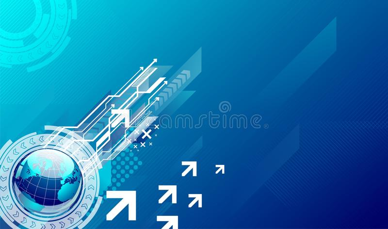 Blue high-tech background royalty free stock photo