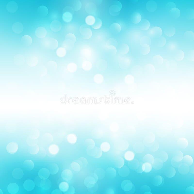 Blue holiday light background stock illustration