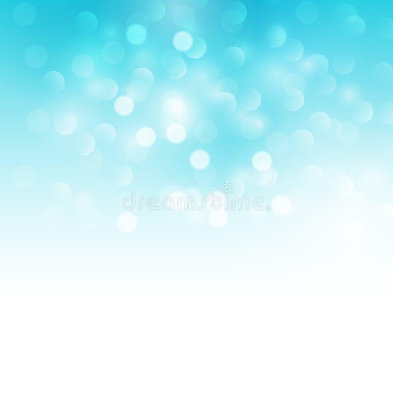Blue holiday light background royalty free illustration